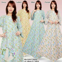 Dress gamis maxy panjang jumbo wanita long dress Niska