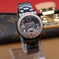 AIGNER A0181 BLACK RING ROSEGOLD