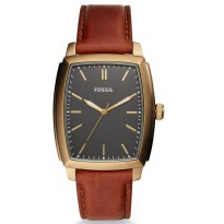 Fossil Burnett Three-Hand Brown Leather Watch, BQ 2302
