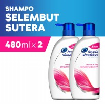 Paket Isi 2 - Head & Shoulders Sampo Smooth & Silky 480 ml