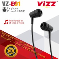 Headset VZ-E01 Powerfull Bass VIZZ EARPHONE