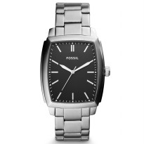 Fossil Burnett Three-Hand Stainless Steel Watch