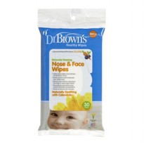Dr. Brown's Nose & Face Wipes Isi 30