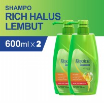 Paket isi 2 - Rejoice Sampo Rich Soft Smooth 600ml
