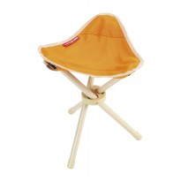 Captain Stag Folding Tripod Chair orange