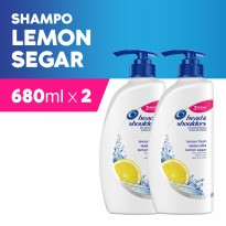 Paket isi 2 - Head & Shoulders Sampo Lemon Fresh 680ml