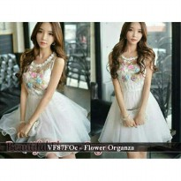 dress wanita | dress wanita murah | VF87FOc - flower organz