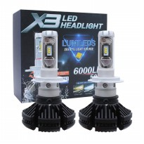 JMS - 1 pair (2 pcs) Lampu LED Headlamp Mobil H11 X3 High Quality