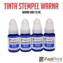 Tinta Stempel Flash Fast Print Warna Biru (Blue Ink) 70
