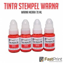Tinta stempel Flash Fast Print warna merah (Red Ink) 70