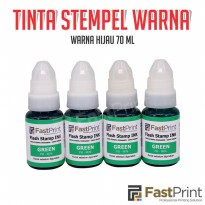 Tinta stempel Flash Fast Print warna hijau (Green Ink)