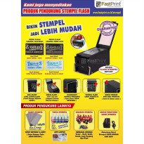 Gagang Stempel Flash Warna Ukuran Kotak 27x43mm