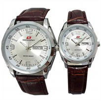 JAM TANGAN COUPLE SWISS ARMY TERBARU (PUTIH)