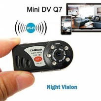 Wifi IP Camera Mini Q7 Spy Hidden Camera With IR night vision P2P Kamera Jarak Jauh Praktis Best Seller