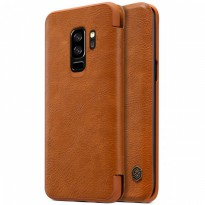 Nillkin Qin Leather Flip Case Samsung Galaxy S9+ / S9 Plus (6.2') Brown