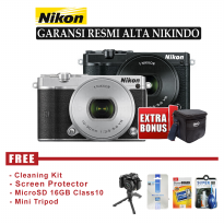 Nikon 1 J5 Lens 10-30mm 23 MP GARANSI RESMI - FREE Accessories