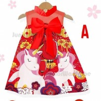 Dress Imlek Cheongsam CNY Unicorn