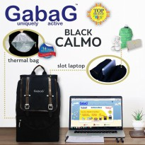 Gabag Calmo Black-Stylish Cooler Bag Free 2 Ice Gel