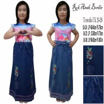 Cj Collection Rok maxi jeans panjang anak-anak jumbo long skirt Nasya