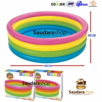 (Ready) Intex 56441 Sunset Glow 4 Ring Rainbow Pool [168cm x 46cm] / Kolam