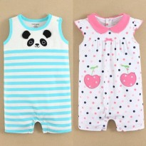 JUMB06  / JUMB09 - Jumper  Mom & Bab White Blue Stripe Panda - White Polka Pink Plum