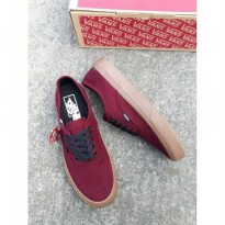 Import Quality Made In China Sepat Sneakers Vans Authentic Mono Maroon SPF:008062