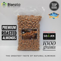 Premium Blue Diamond - Roasted Almond - 1000 gram (Kacang Almond Panggang)