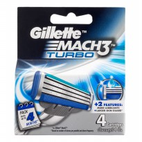 Gillette Mach3 Turbo Cartridges 4s
