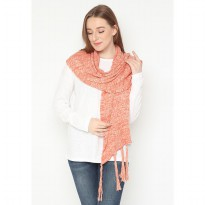 Mobile Power Ladies Knitting Syal - Orange AG60045
