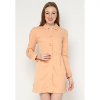 Mobile Power Ladies Long Sleeve Coat - Soft Orange AG10053