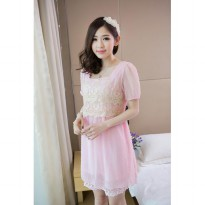 Sweet lady lace chiffon dress fight