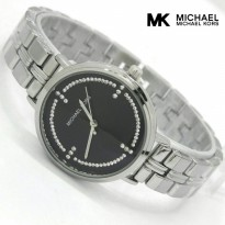 Grosir! MICHAEL KORS RANTAI SILVER COVER BLACK