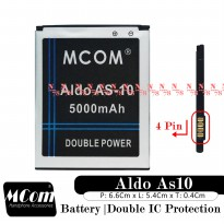 Baterai Aldo As10 As-10 As 10 Double IC Protection