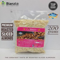 Premium Blue Diamond - Roasted Slice Almond - 200 gr (Kacang Almond Panggang)