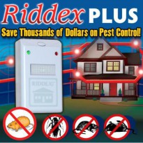 RIDDEX Plus - PEST REPELLER - Pengusir Nyamuk, Kecoa, Tikus Ultrasonic - AS SEEN ON TV