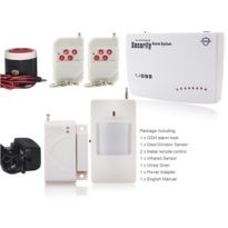 GSM Alarm System Wireless Metal Remote Control Home Security Office
