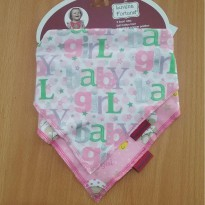 Luvena Fortuna Triangle 2-Pack Scarf Bibs (Baby Girl)