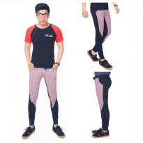 Celana Jogger Training Pria Slim Fit Johnn