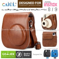 Fujifilm Leather Bag Polaroid Instax Mini 8 & 9 Tas Warna Coklat Case