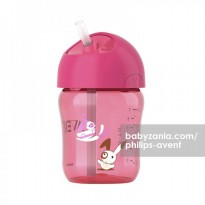 Philips Avent Straw Cup 260ml 12m+ Pink