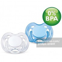 Philips Avent 2 Pack Orthodentic Pacifier / Soother 0-6m - Blue White