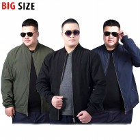 JACKET / JAKET BOMBER PRIA BIG SIZE JUMBO 3XL - KFashion