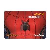 Kartu Emoney Spiderman Homecoming Edition (Suit) Mandiri Emoney Card Etoll Promo Murah