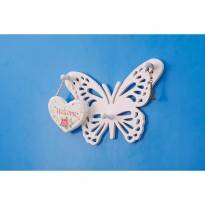 MH513 SUPERDEAL Simple Butterfly Hanger Rak dinding vintage