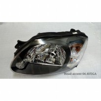 HEADLAMP HYUNDAI ACCENT 2004 AVEGA SMOKE