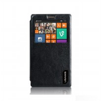 Usams Merry Series Leather Case Nokia X+ - Hitam