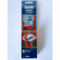 (Gold Product) Oral-B Stages Power Kids Brush Head Refill - Cars (isi 2)