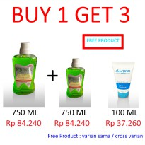 [BUY 1 GET 3 FREE] - KLINSEN MOUTHWASH 750 ML - WITH 3 VARIAN RASA