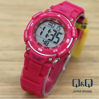 Jam Tangan Wanita Q&Q Wateresist DigitaL Pink