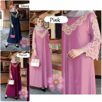 Dress Muslim Gamis Bordir Mewah Milla clo